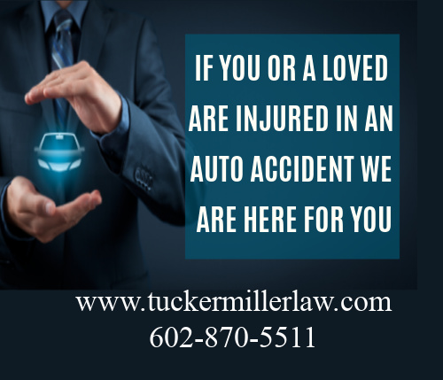 Picture stating if you or a loved one are in an accident we are here for you