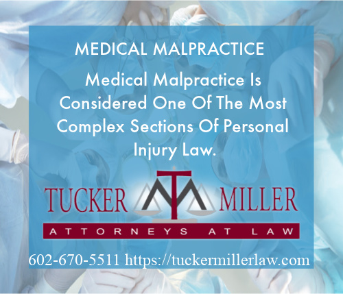 Picture with text stating medical malpractice lawis considered the most difficult area of trial law