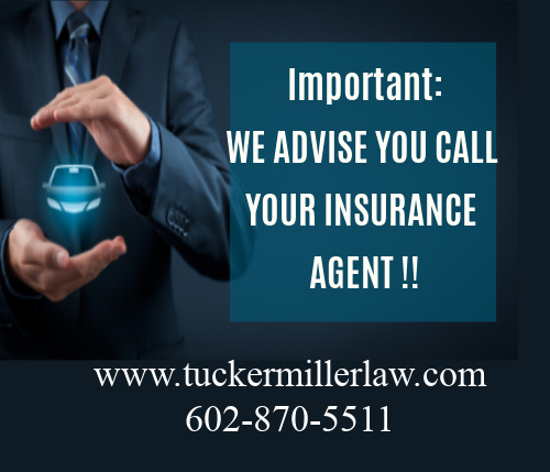 Picture stating we advise you call your insurance agent