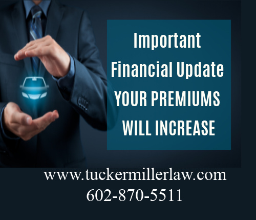 Picture stating your car insurance premiums will increase
