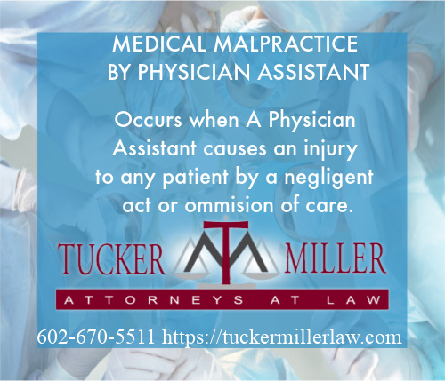 Graphic of Medical Doctors and Physician Assistants in Surgical Process with Text-MEDICAL MALPRACTICE BY PHYSICIAN ASSISTANT