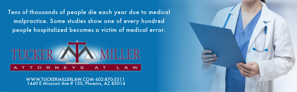 Graphic stating Tens of thousands of people die each year due to medical malpractice.