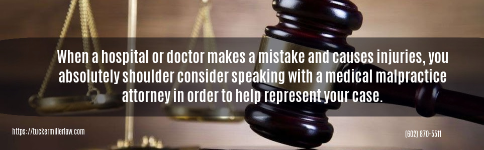 Graphic statingWhen Medical Doctors Cause Injury Call Tucker Miller Law