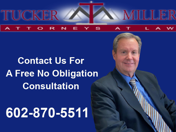 Graphic stating free consult with tucker miller law
