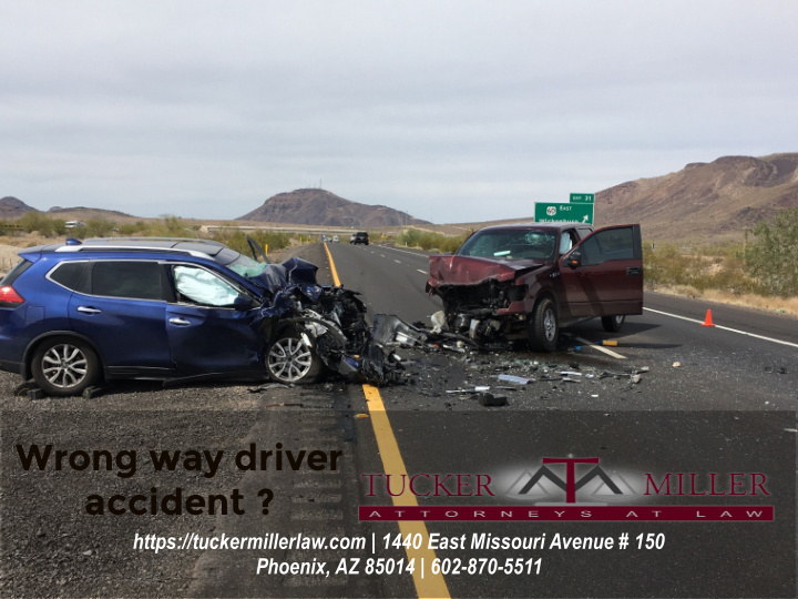 Graphic wrong way accident on highway in Arizona
