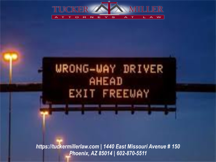 Graphic stating of electronic AZDOT signage wrong way driver ahead exit freeway