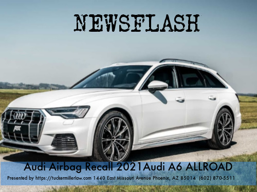 Graphic stating Audi Airbag Recall Audi a6 allroad