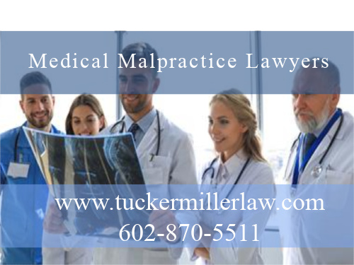 Graphic stating Medical Malpractice Attorney Tucker Miller Law