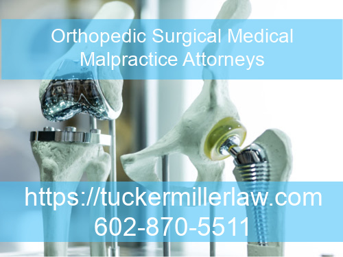 Graphic stating Orthopedic Surgical Medical Malpractice