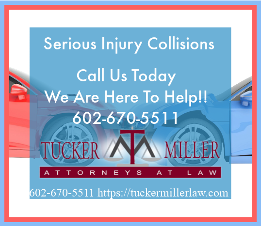 Graphic stating Serious Injury Collisions Call Us Now
