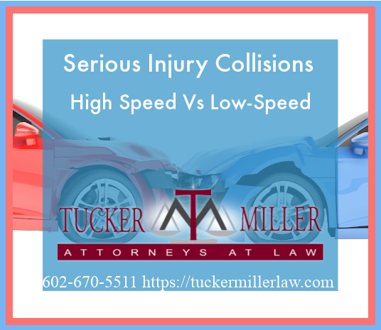 Graphic stating Serious Injury Collisions High Speed Vs Low-Speed