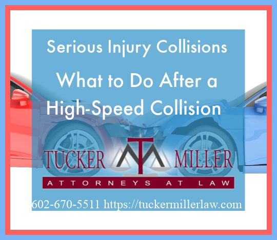 Graphic stating Serious Injury Collisions What to Do After a High-Speed Collision