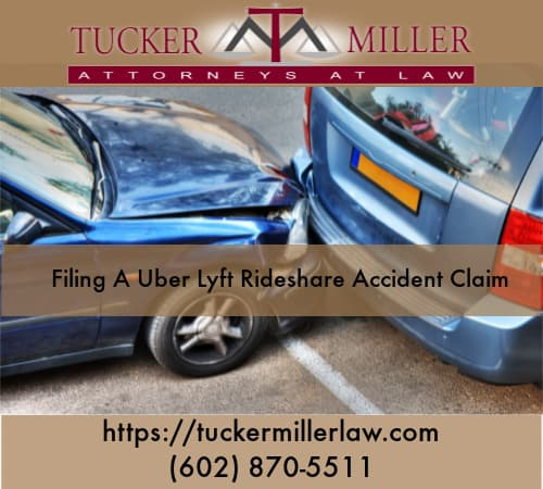 Graphic stating Filing-A-Uber-Lyft-Rideshare-Accident-Claim
